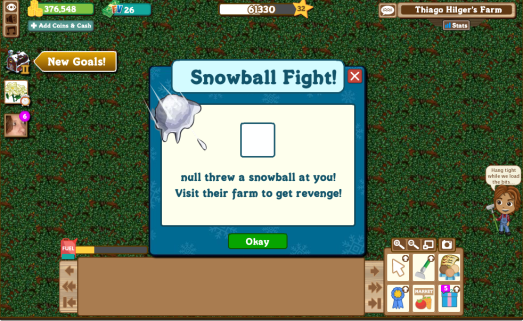 null threw a snowball at you!