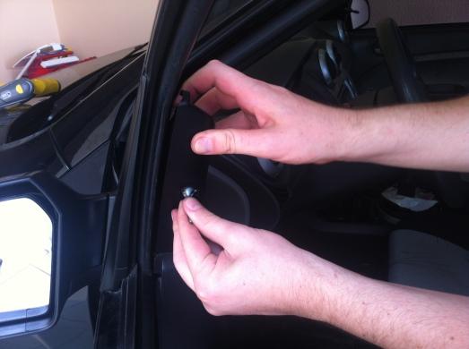 Montando retrovisor